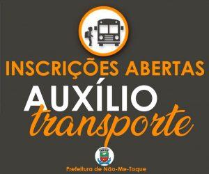 Inscrições abertas para para o Auxílio Transporte Municipal!