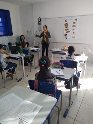 Atividades de Educação Alimentar e Nutricional são desenvolvidas na EMEF Amália Kerber